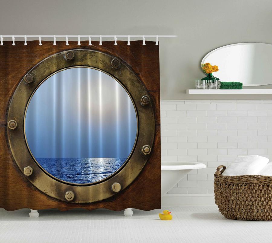 Ship Porthole Shower Curtain