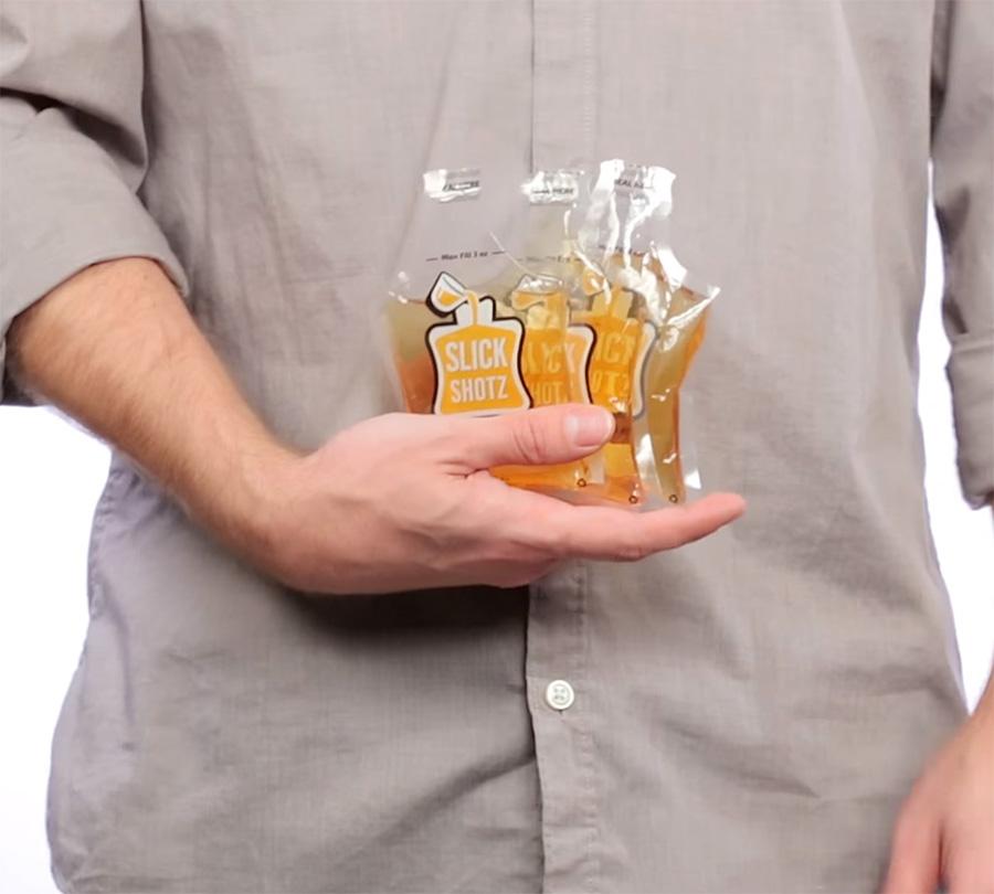 Slick Shotz Sealable Plastic Flasks For Easy Alcohol Smuggling