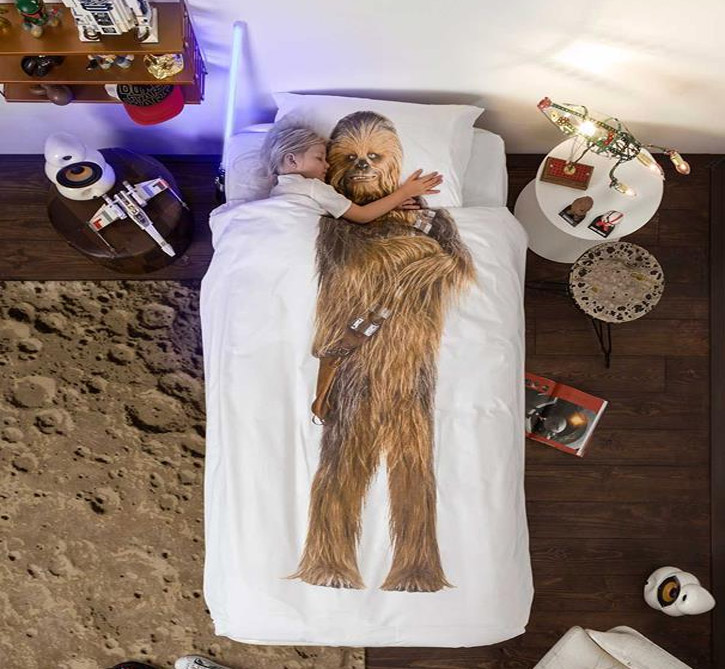 Star Wars Chewbacca Duvet Bed Cover And Pillowcase