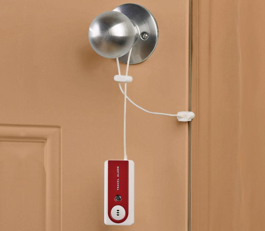 This Portable Door Alarm Sounds Off If Your Door Is Opened