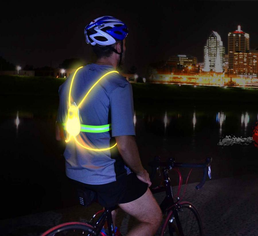Tracer360 An Illuminated Vest For RunningCycling At Night