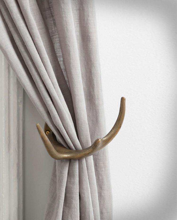 faux deer antler curtain tiebacks