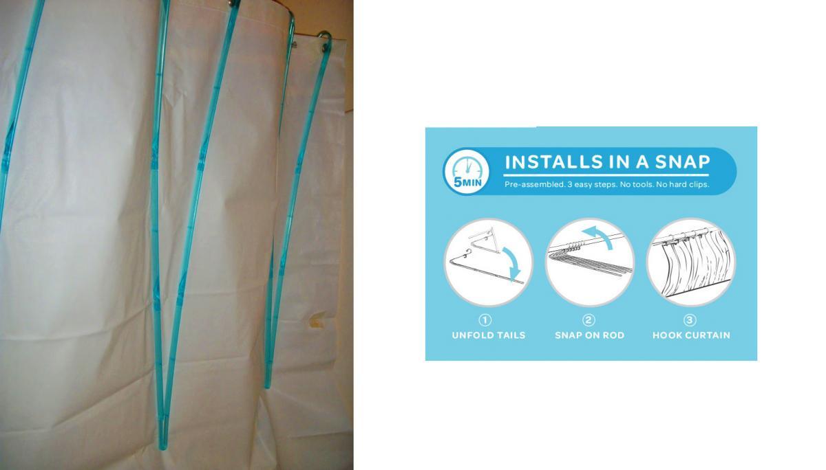 this genius shower curtain space