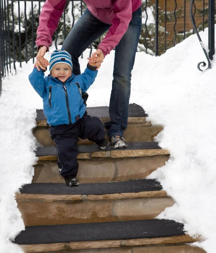 These Heated Stair Mats Melt Snow And Ice From Your | Outdoor Stair Treads For Winter