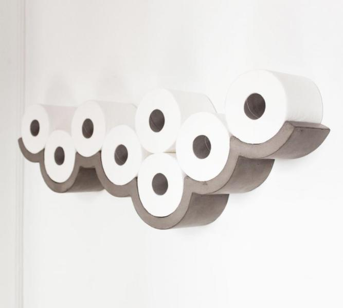 Concrete Cloud Toilet Paper Holder The Cloudy Day toilet paper holder is a unique toilet paper holder that  mounts to your wall and resembles the outline of a cloud