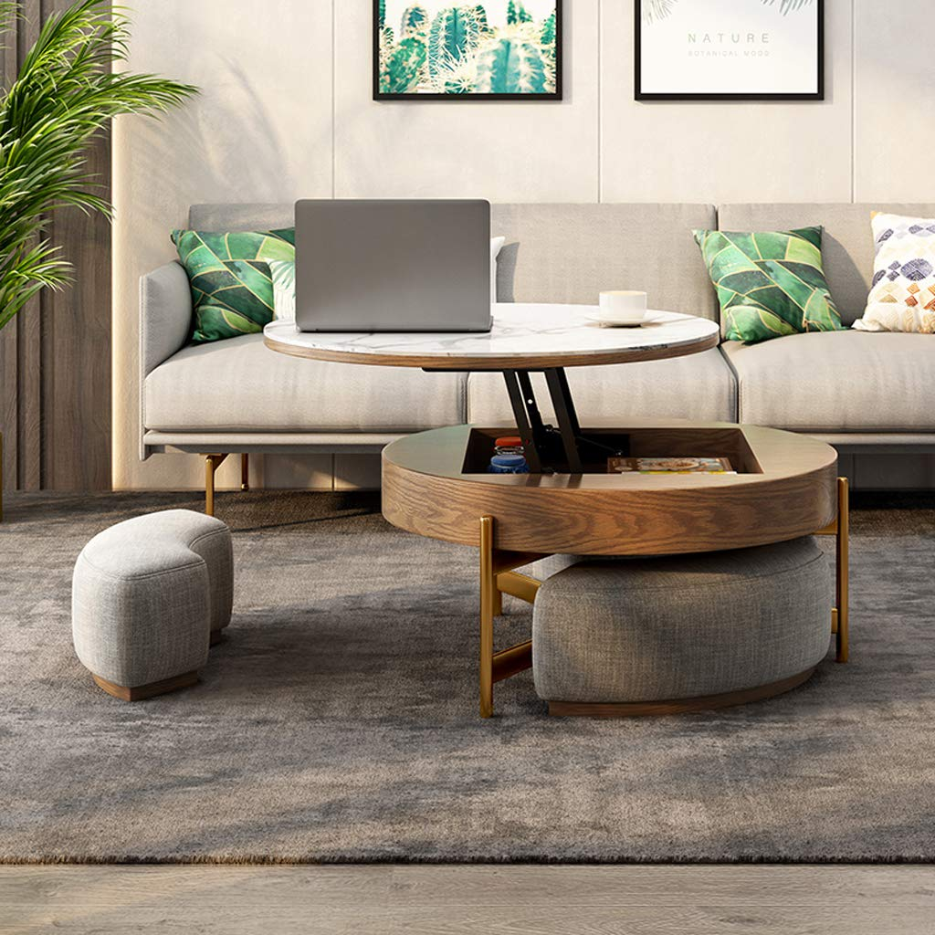 this modern round tea table has space