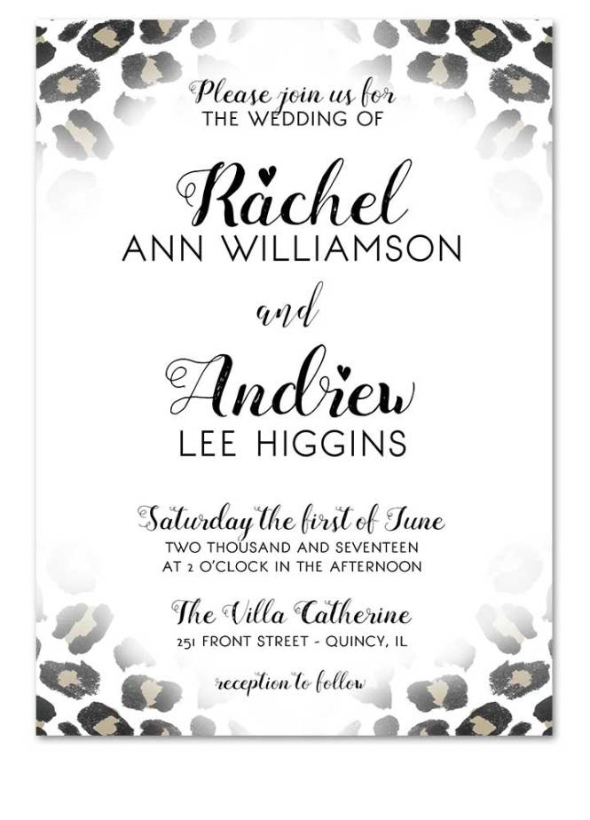 Leopard Print Wedding Invitation For Offbeat Weddings