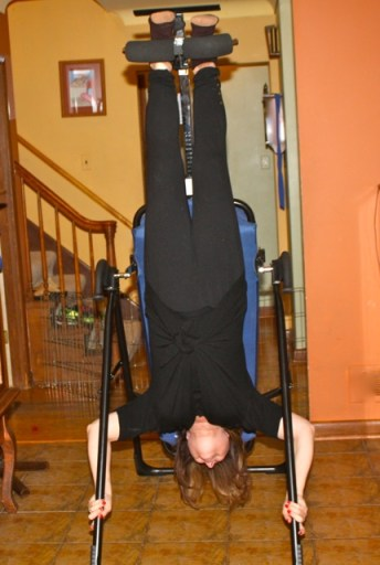 Inversion table--upside down