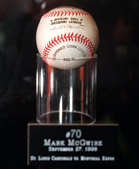 Mark McGwire's 70th home run ball