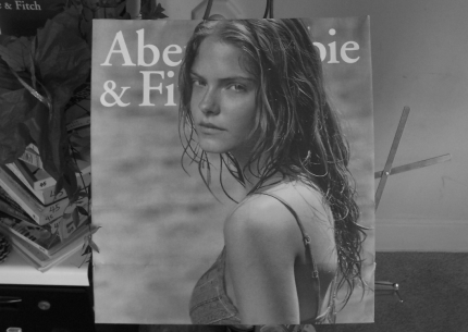 Jessica Perez on Abercrombie & Fitch Christmas 2006 shopping bag