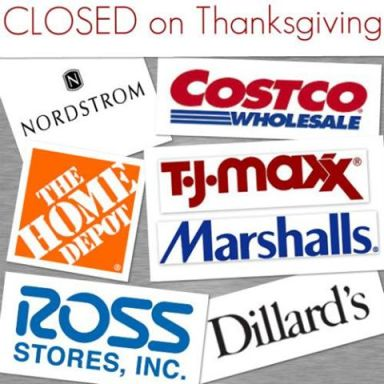 Closed on Thanksgiving