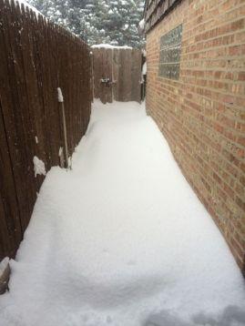 Snow walk way