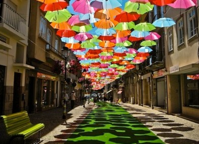 Floating-Umbrellas-Line-The-Streets-of-Agueda-Portugal-1