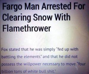 Snow Flame thrower