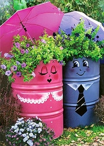 trash can planter