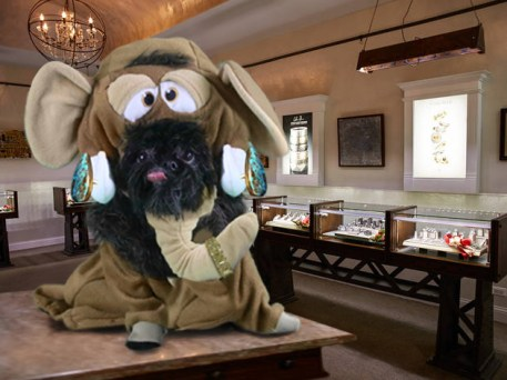 Wooly Mammoth costume, Steve Quick Jewelers