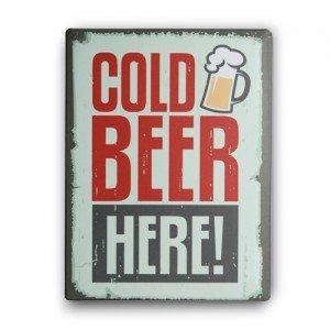 Cold-Beer-Here-Metallinen-Kyltti-30-x-40-cm-1