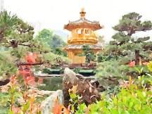 Pagoda At Chi Lin Nunnery