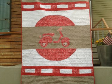 Scooter Quilt for Bun Mi in San Fran