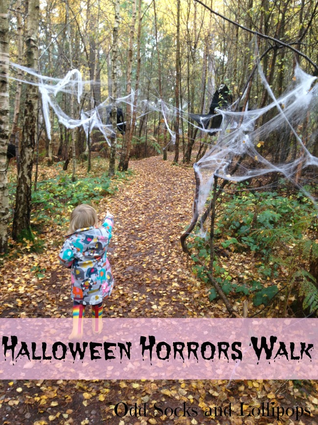Halloween Horrors Walk - Boo and I had a wonderful morning exploring the woods on a spooky walk