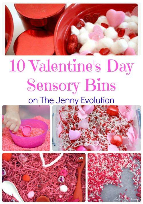 valentine sensory bins A
