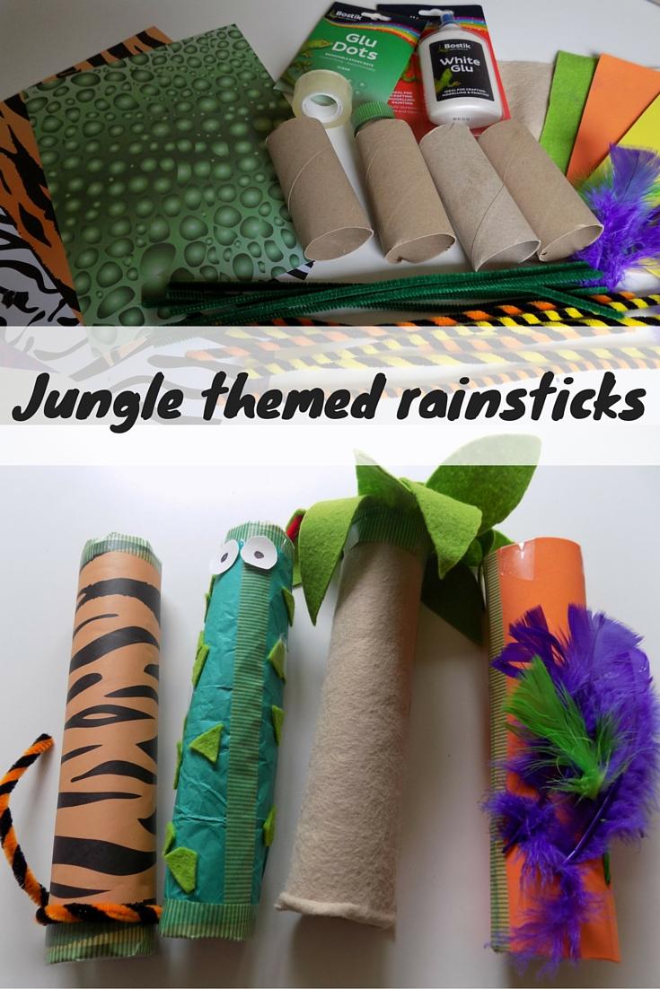 Jungle Themed Rain Sticks - Odd Socks and Lollipops