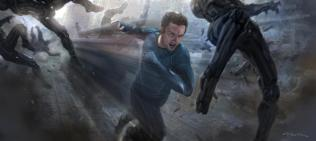 Concept art of Aaron Johnson as Quicksilver in AVENGERS: AGE OF ULTRON