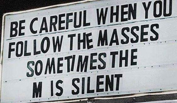 Following the masses
