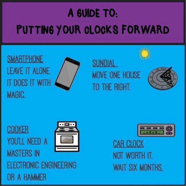 A guide to putting your clocks forward