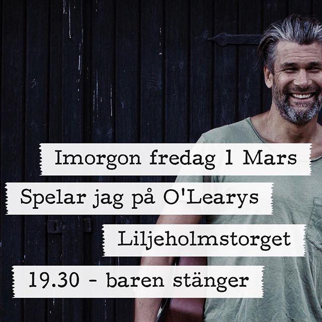 Varje Fredag på @olearysliljeholmstorget serveras en BBQ-Buffé mellan 16-18.30 för 99 kr och jag lirar i baren från 19.30. Välkomna!!!#olearysliljeholmen #olearyssverige #olearys #odebrand #livemusic #gig #bbq #goodfood #bar #friday