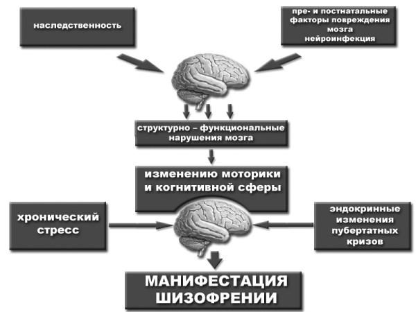 Симптомы шизофрении у мужчин и женщин