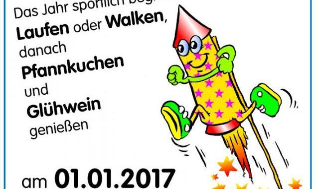 Plakat Neujahrslauf in Beeskow