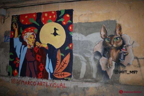 Художник из Мексики подарил одесситам рисунок на стене ...