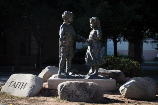 Kid sculpture at ORH - Christina Hanes