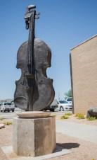 Bass sculpture at City Hall Raquel Ortega