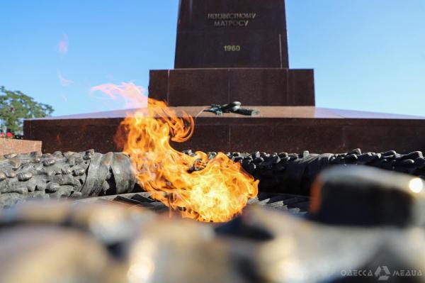 В Одессе на Аллее Славы в День партизанской славы ...