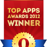 Бейдж победителей конкурса для разработчиков мобильных приложений «2012 Top Apps Awards»