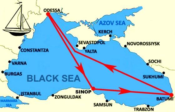 Маршрут второго черноморского этапа регаты «Magellan 500»