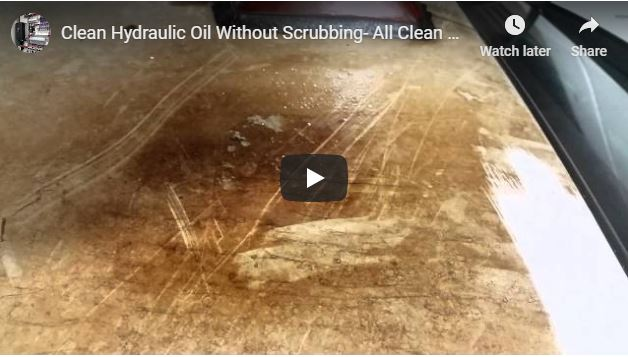 Clean Hydraulic Oil… WITHOUT SCRUBBING