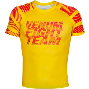 Venum Speed Camo Urban Rashguard Acid Yellow