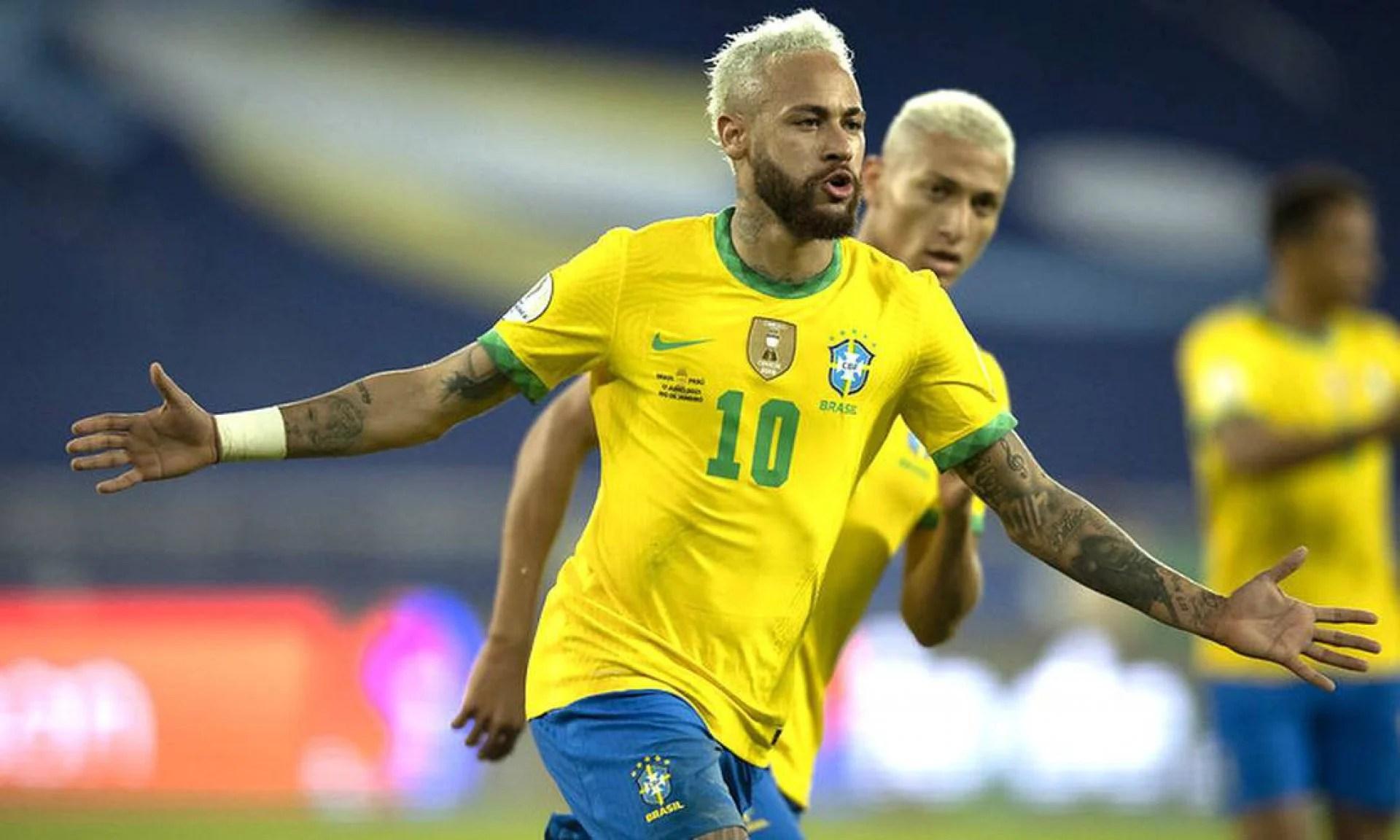 Neymar cumpriu suspensão e volta contra a Colômbia - Foto: Lucas Figueiredo/CBF