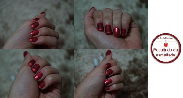 Esmalte vermelho fosco