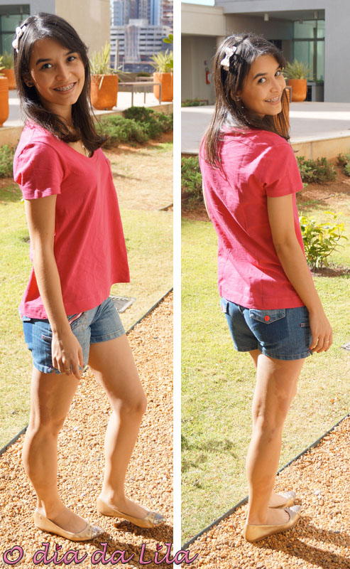 Short e camiseta - look de domingo