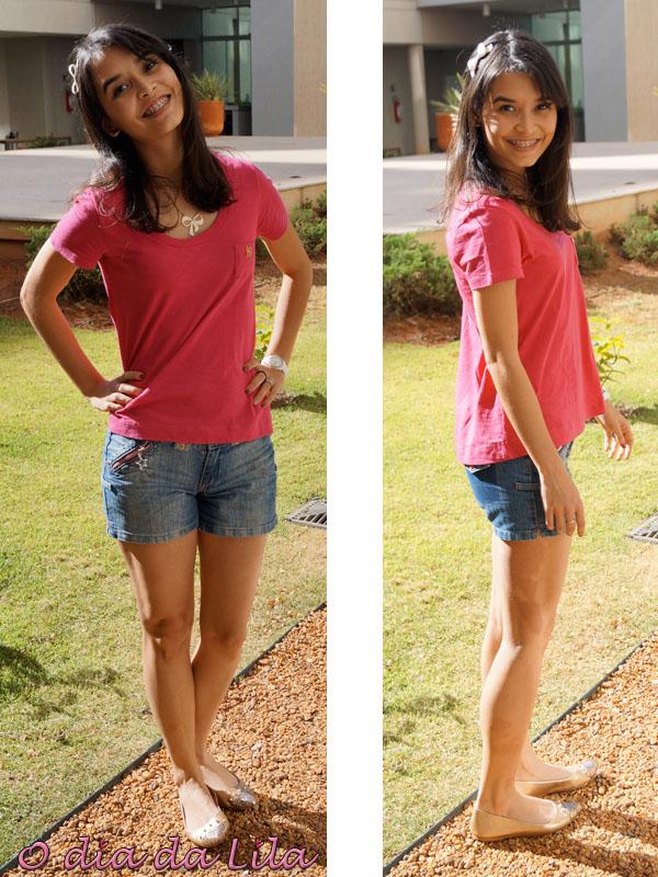 Short e camiseta