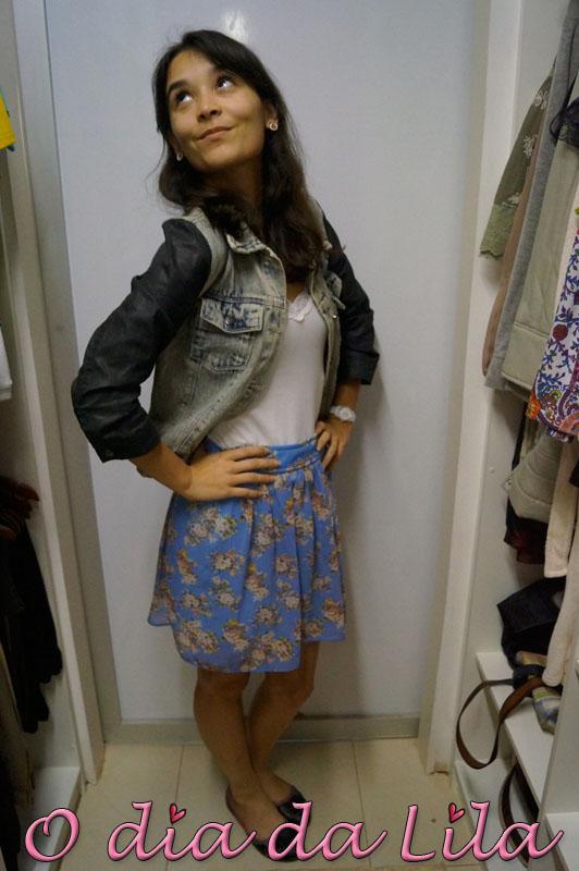 saia floral e jaqueta jeans 2