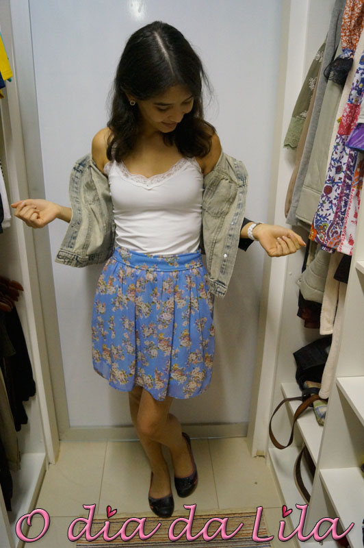 saia floral e jaqueta jeans 4