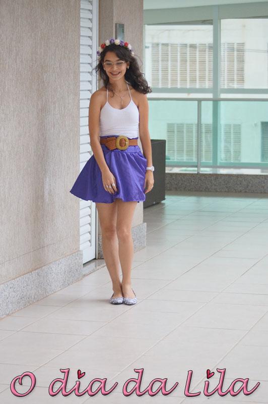 #lookdalila saia roxa