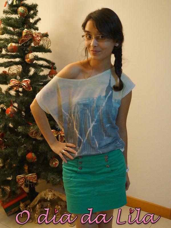 #lookdalila saia verde