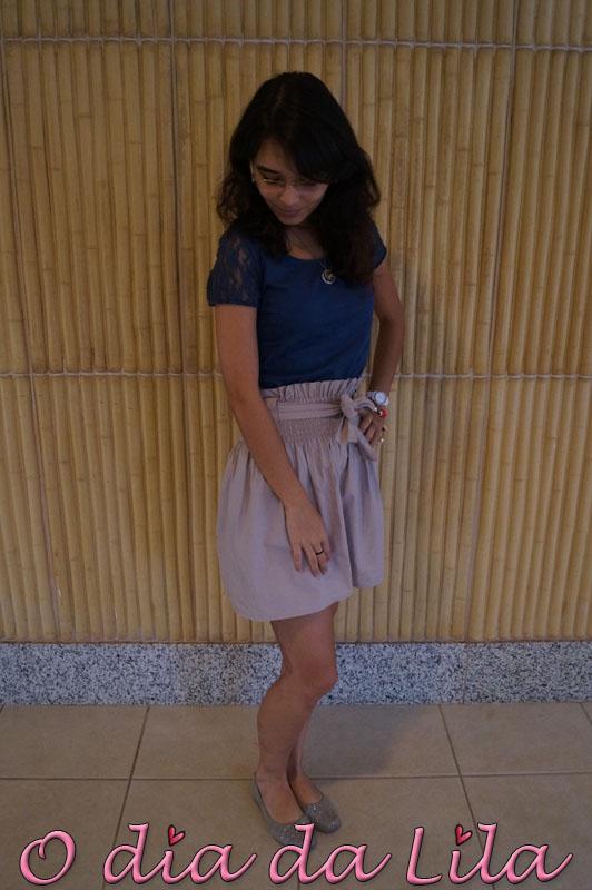 #lookdalila saia de cintura alta