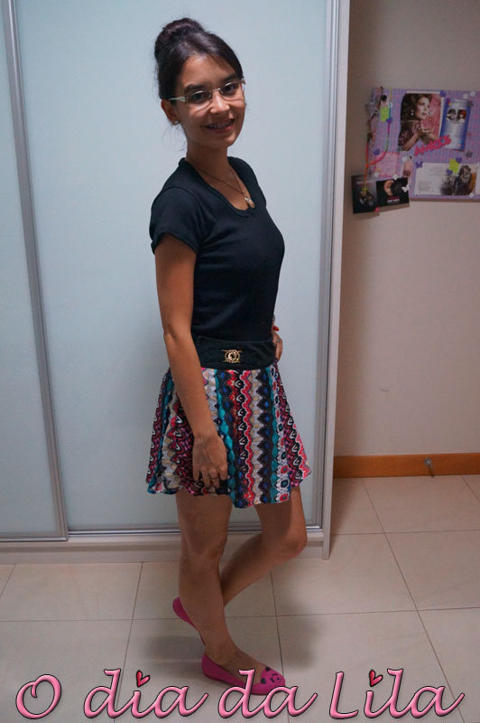 #lookdalila short-saia estampada